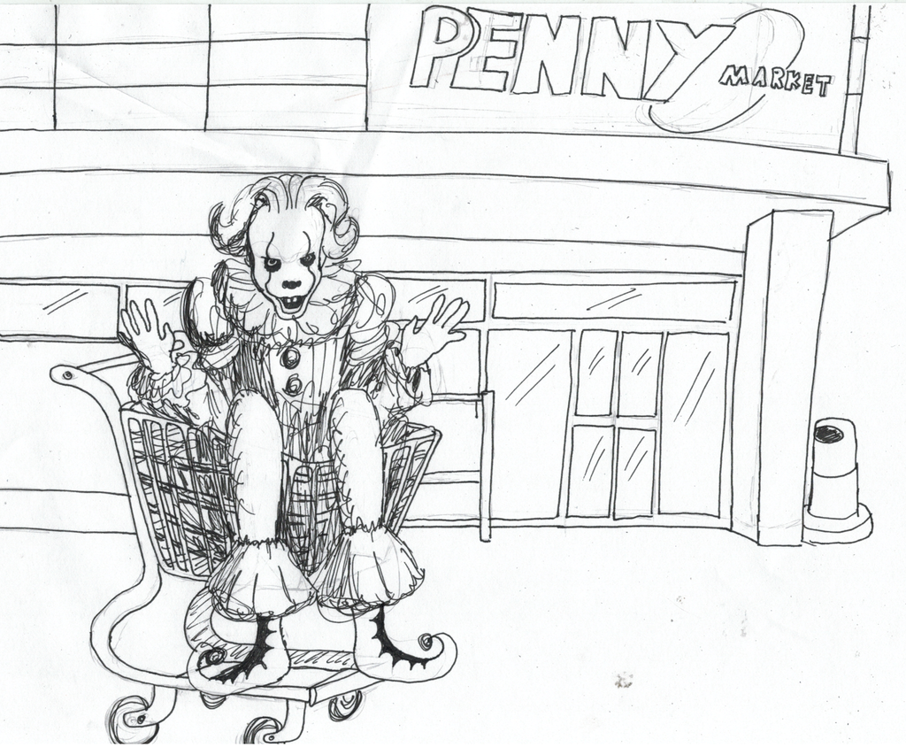PENNYwise (Inktober 6) by ForcePond on DeviantArt