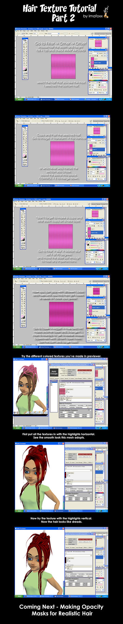 IMVU Developing Tutorial Hair2 by afox2004