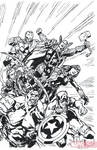 Inking: Avengers Assemble by Bagley