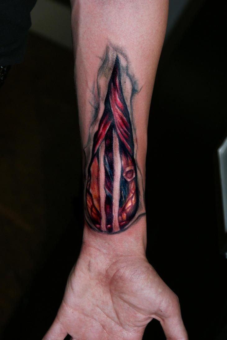 Wrist wound - sleeve tattoo