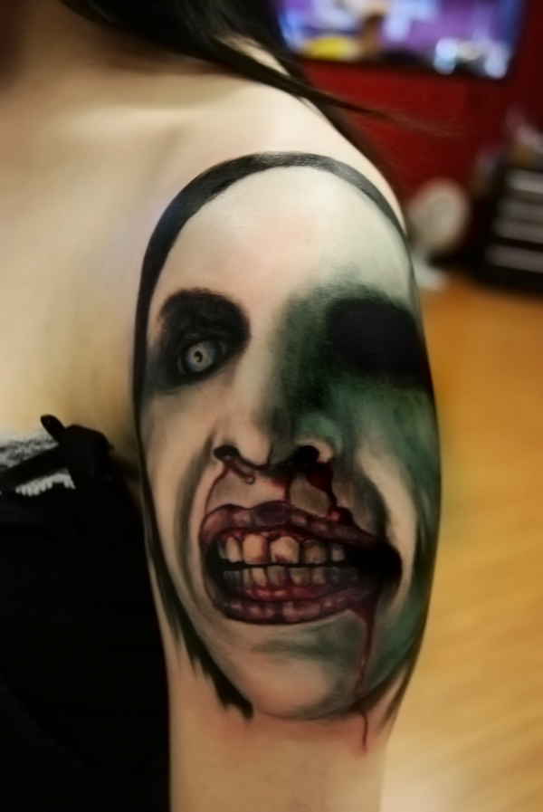 Marilyn Manson Tattos: Marilyn Manson Tattoo By Filthmg On DeviantArt