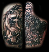 Scavenger themed tattoo by filthmg