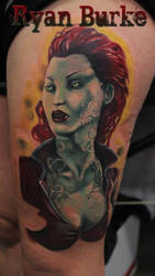Poison Ivy Tattoo by filthmg