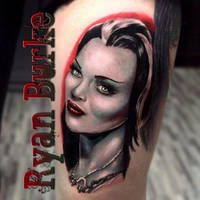 Lily Munster tattoo by filthmg