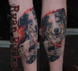 Sheep dog tattoo by filthmg
