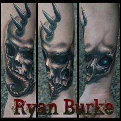 Siamese Skull Tattoo by filthmg