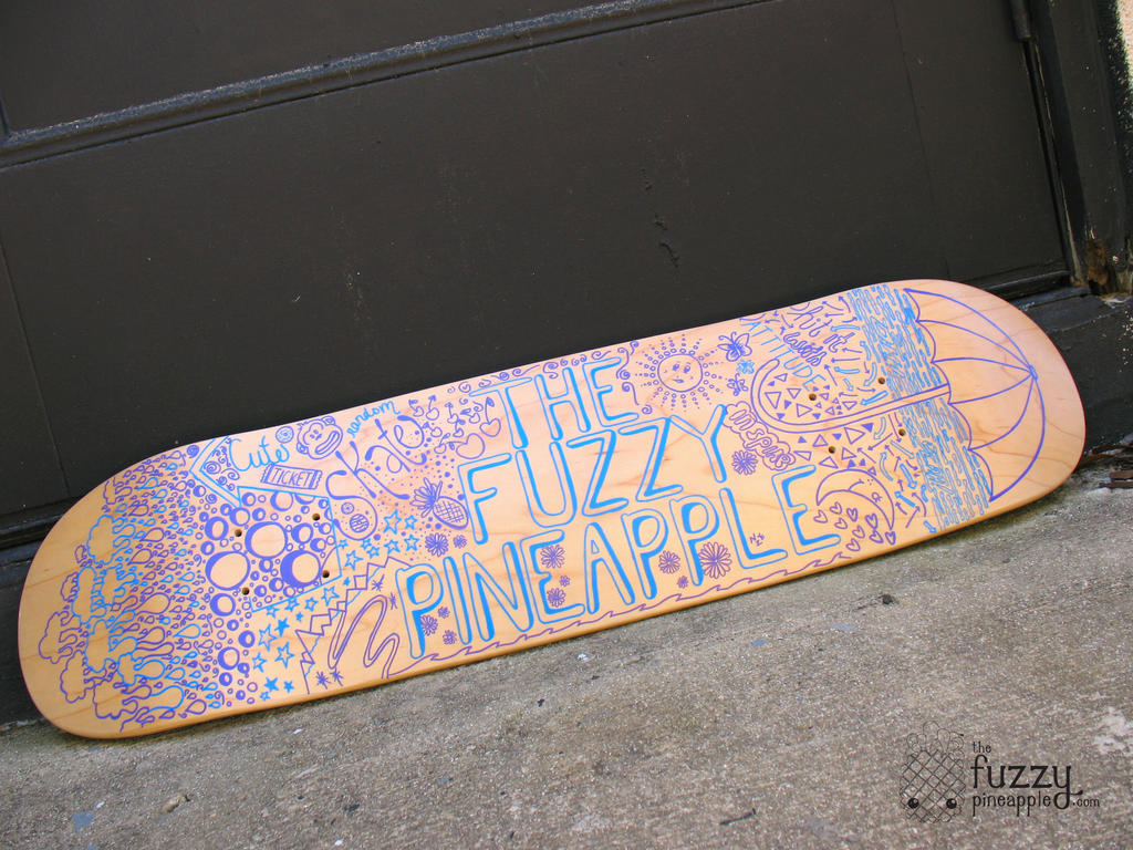 Custom Design Hand Painted Skateboard Deck By