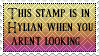 This Stamp Is In Hylian When You Aren't Looking by klilia