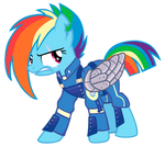 Rainbow Dash is prepared for the War!!