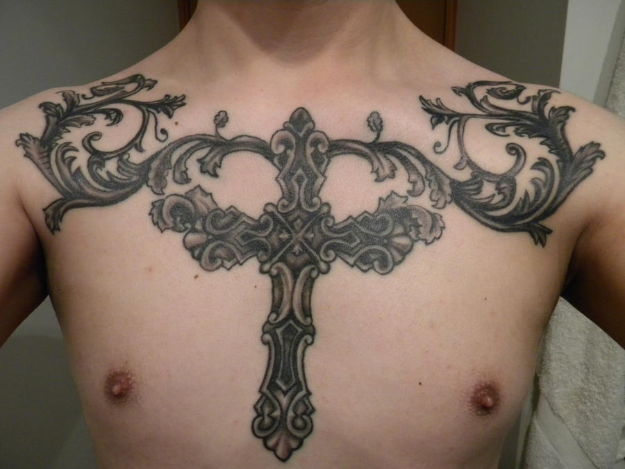 Chest Cross Tattoo 2 by baihei