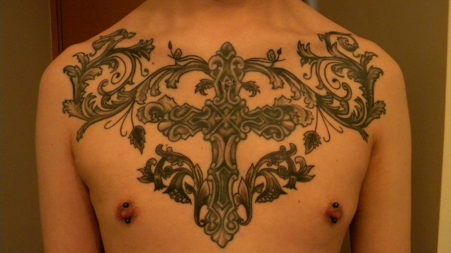 Chest Cross Tattoo Piece By Baihei On DeviantArt