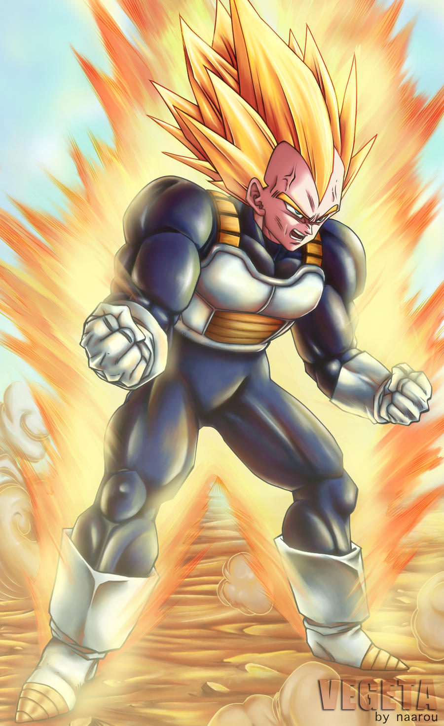 majin vegeta wallpaper iphone