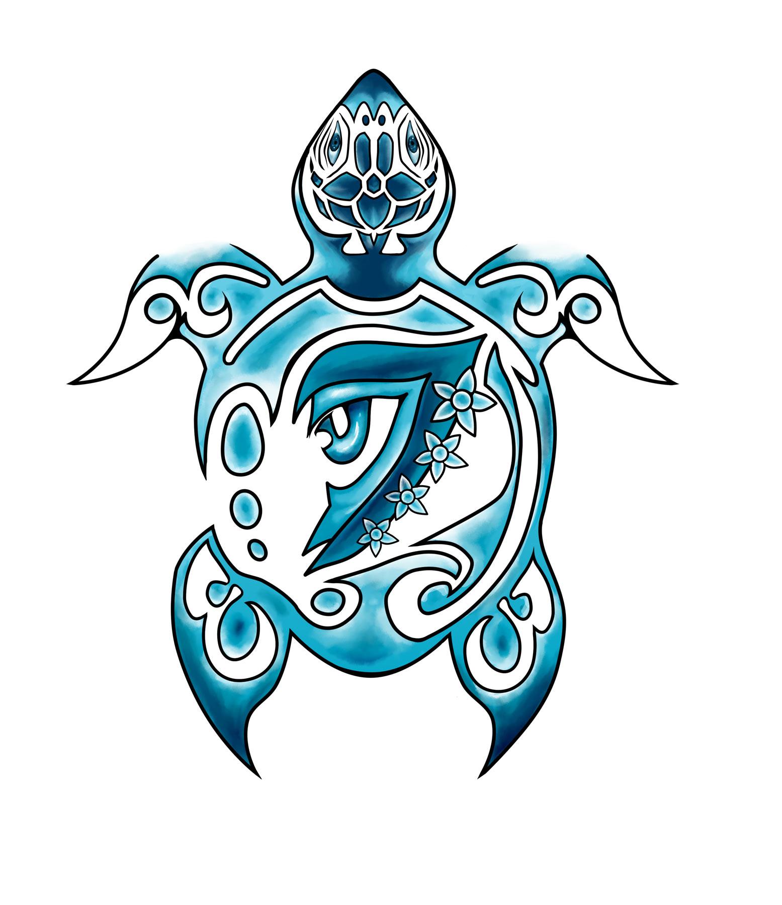Hawaiian turtle designs color - photo#24