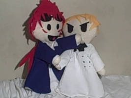 Reno and Rufus Shinra puppets by Alimarialinder