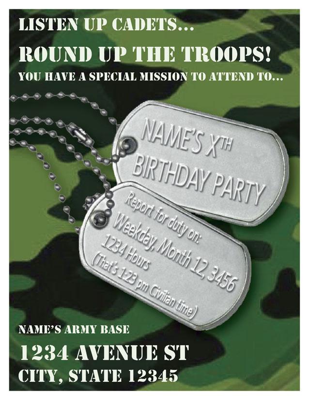 Army Theme - Birthday Invite by Blue-St on DeviantArt