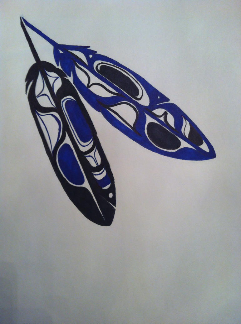 haida eagle feathers by mammomax7432 on deviantart. Black Bedroom Furniture Sets. Home Design Ideas