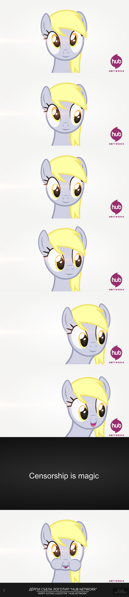 Derpy eating logotype by Alterhouse