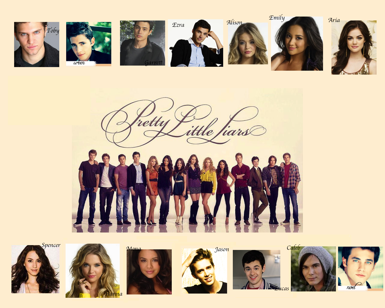 Pretty Little Liars Girls And Guys Wallpaper By