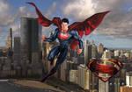 Superman Above Metropolis Wallpaper