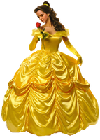 Hermione Granger as Belle with Rose PNG by nickelbackloverxoxox