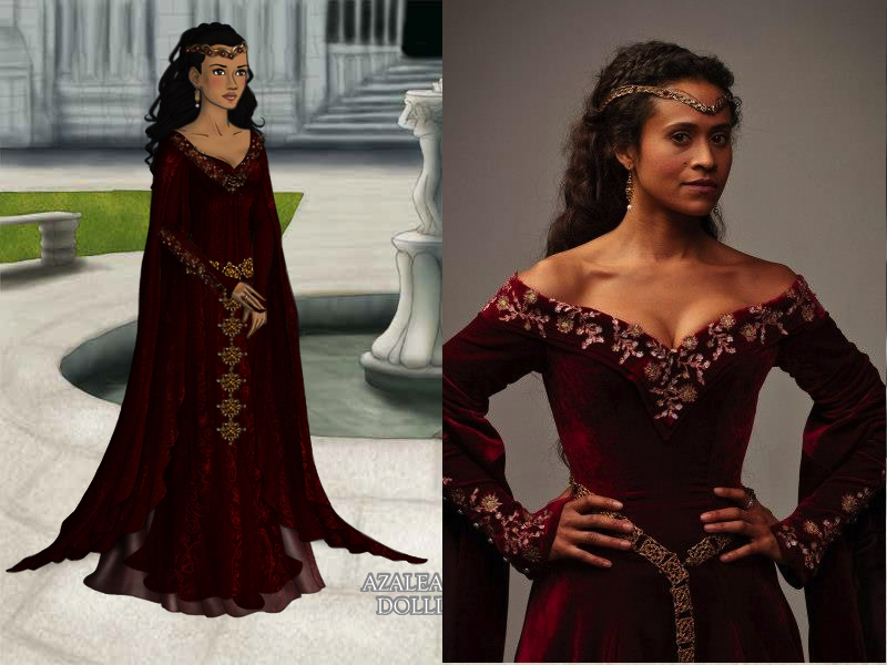 BBC\'s Merlin-Guinevere\'s Red Gown by nickelbackloverxoxox on DeviantArt