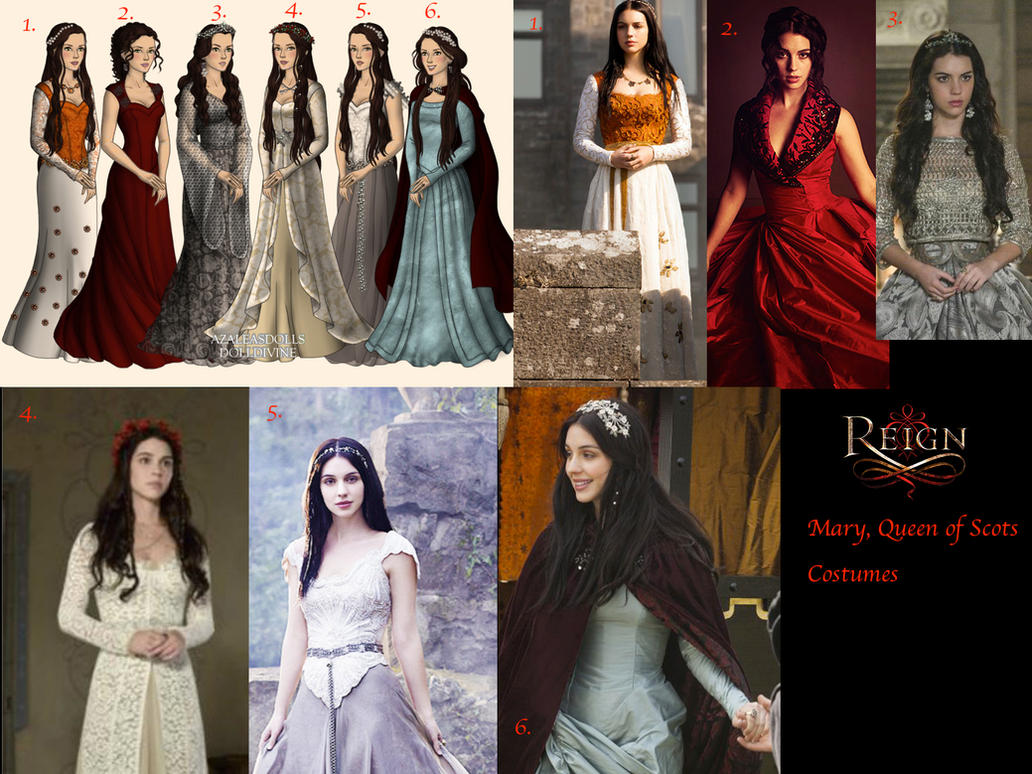 Mary, Queen of Scots Costumes-Reign CW by nickelbackloverxoxox on ...