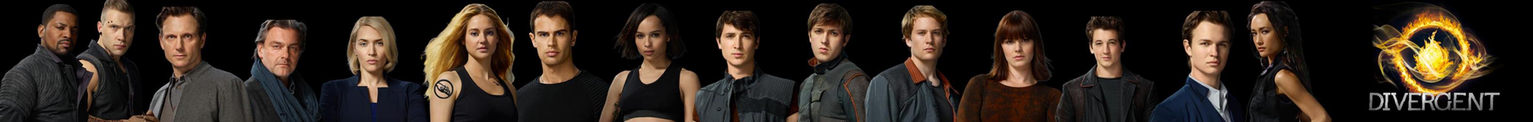 Divergent Film Characters Banner by nickelbackloverxoxox