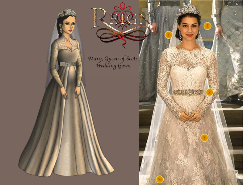 Mary39s wedding gown reign cw by nickelbackloverxoxox on for Reign mary wedding dress