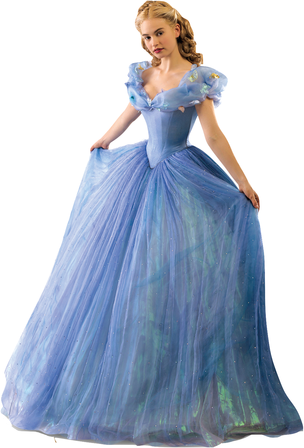Lily james as cinderella full body 2 png by for Full body wedding dress