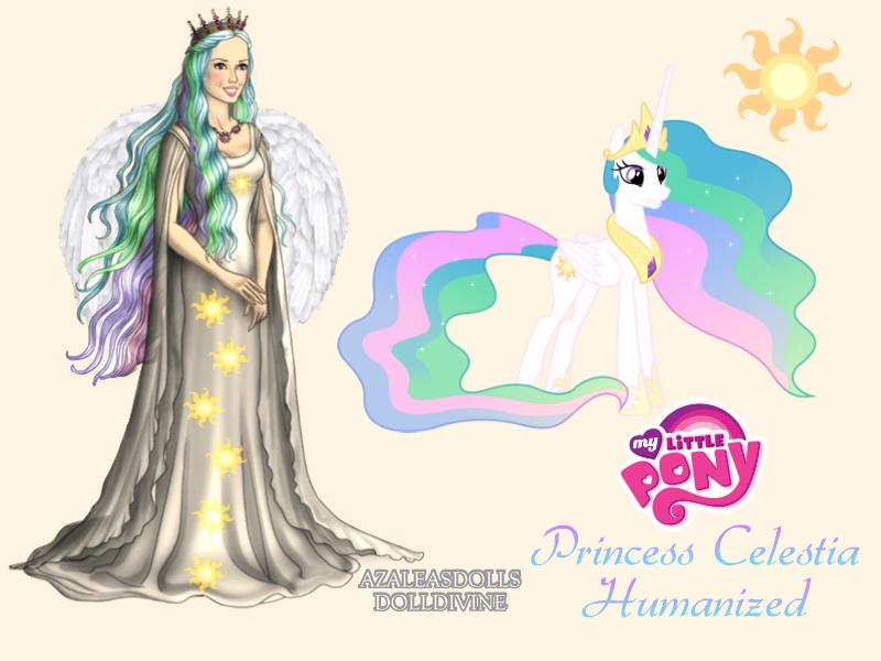 MLP Princess Celestia Humanized by nickelbackloverxoxox