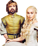 Tyrion Lannister and Daenerys Targaryen-GoT PNG