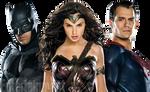 Batman, Wonder Woman, and Superman PNG