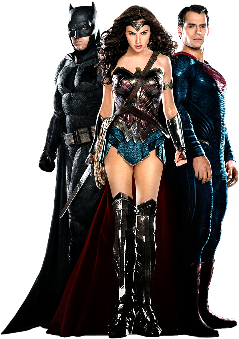Batman, Wonder Woman, and Superman (Full-Body) PNG by ...