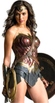 Gal Gadot as Wonder Woman with shield PNG