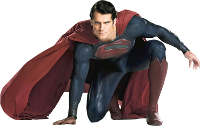 Henry Cavill as Superman (crouching) PNG by nickelbackloverxoxox