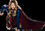 Melissa Benoist as Supergirl (crouching) PNG
