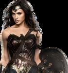 Gal Gadot as Wonder Woman with shield 2 PNG