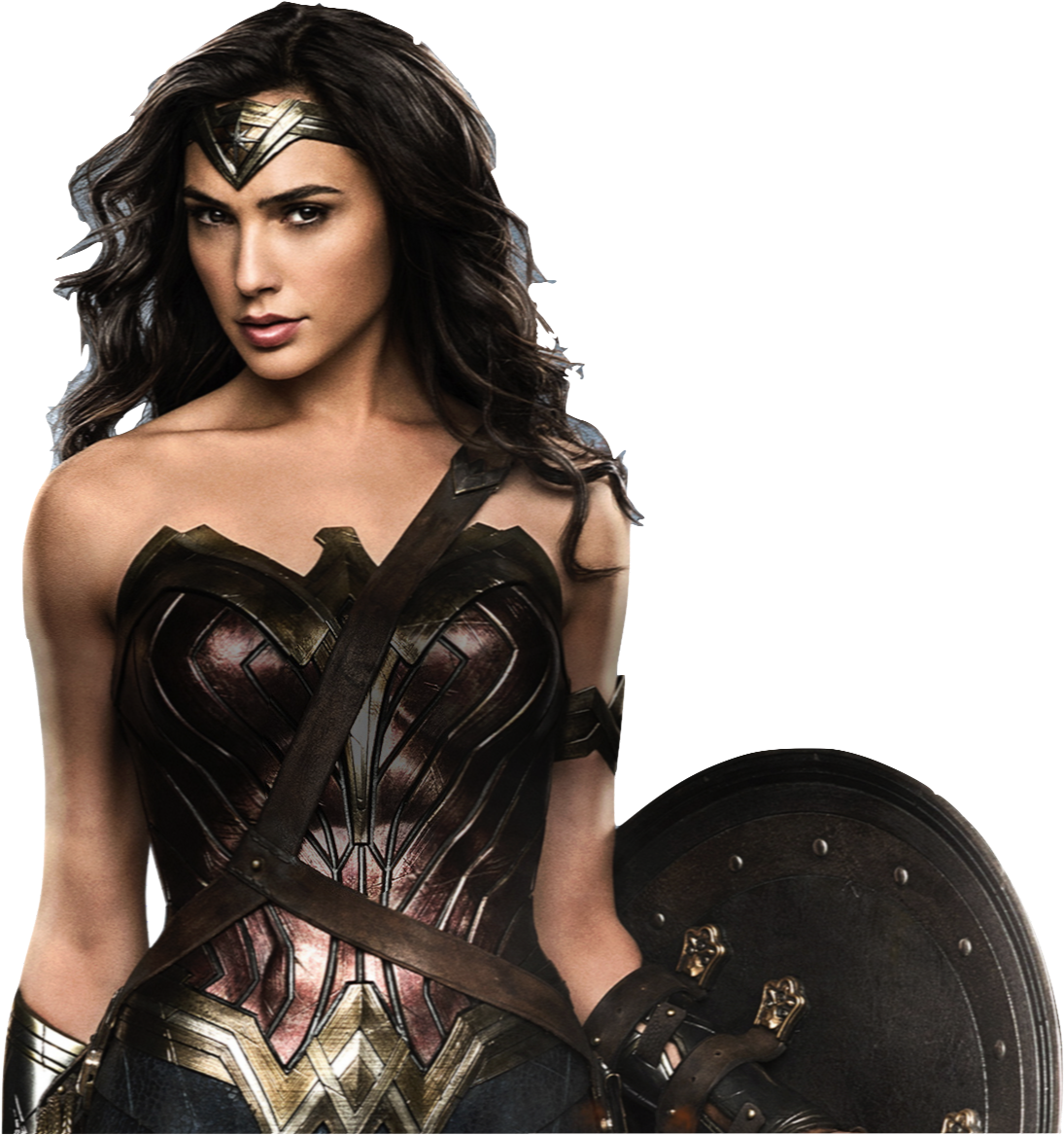 Gal Gadot as Wonder Woman with shield 2 PNG by ...