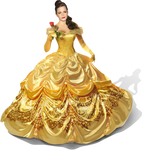 Emma Watson as Belle with rose PNG