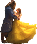 Belle and Beast (Full Body)-BatB 2017 PNG