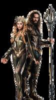 Amber and Jason as Mera and Aquaman-JL PNG