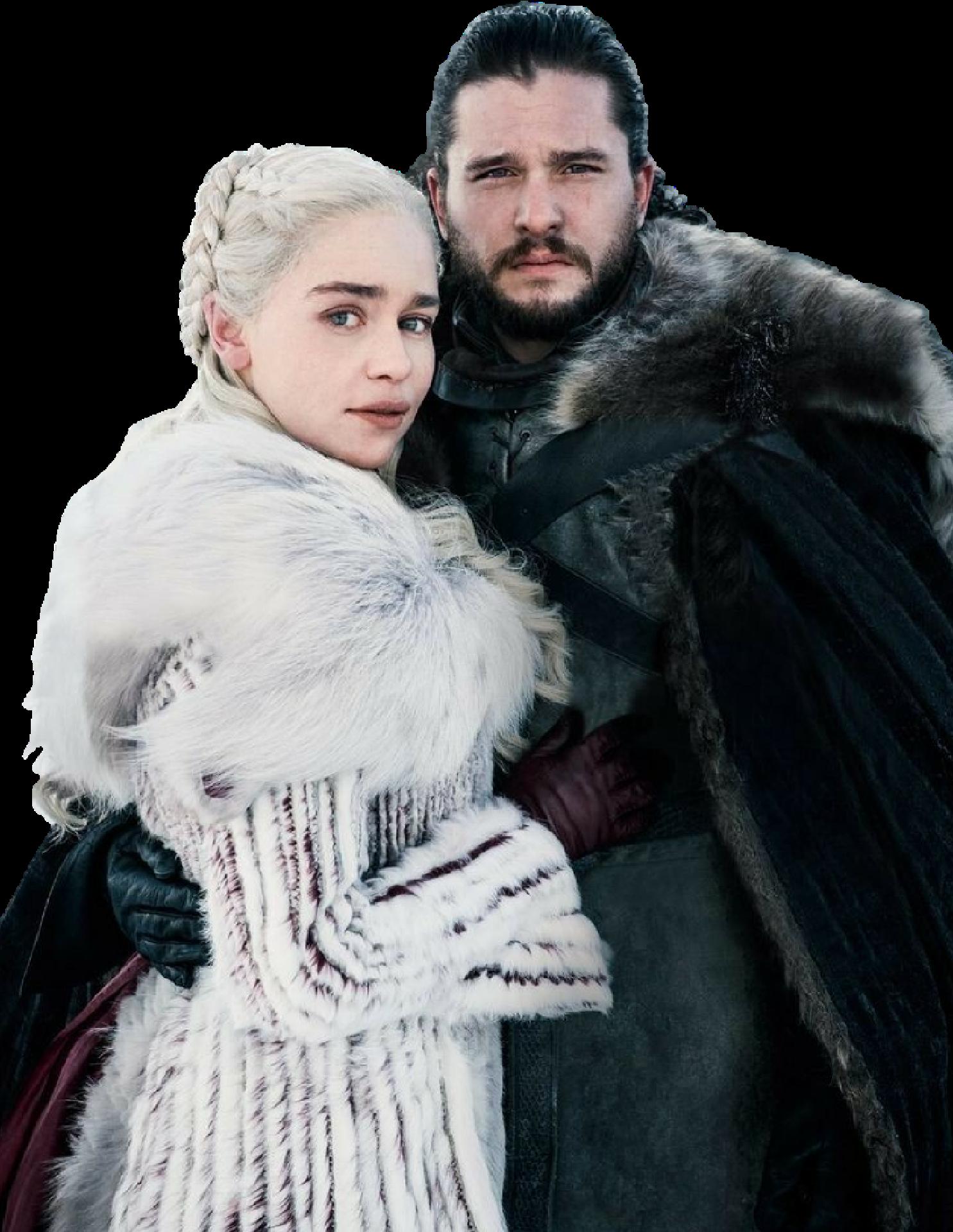 Jon Snow and Daenerys Targaryen-GoT PNG by ...