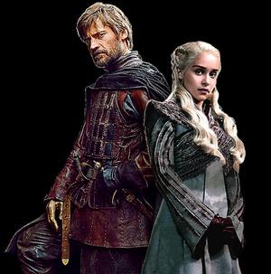 Jaime Lannister and Daenerys Targaryen- GoT PNG