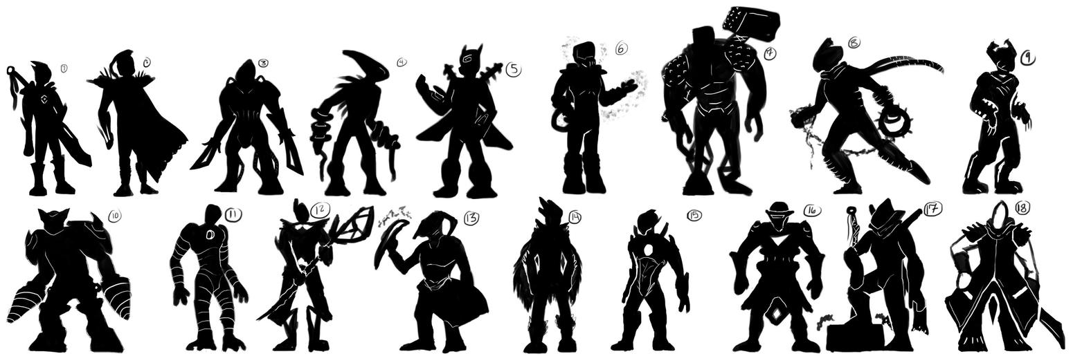 18 Silhouettes by JeanSlayer
