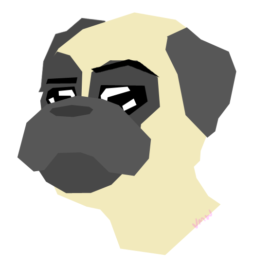 Question mark Pug by JeanSlayer