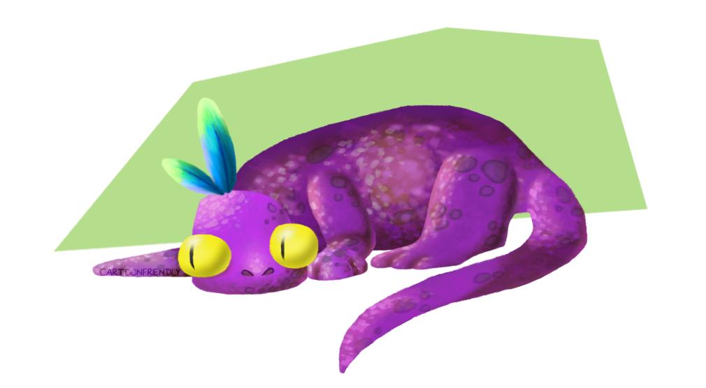 Lizard Monster by CartoonFriendly