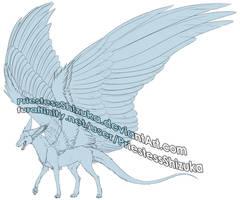 Dutch Angel Dragon -- Free to Use Lineart by PriestessShizuka