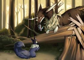 First Hunting Lesson by PriestessShizuka