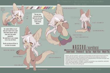 Nasshu ref sheet by PriestessShizuka