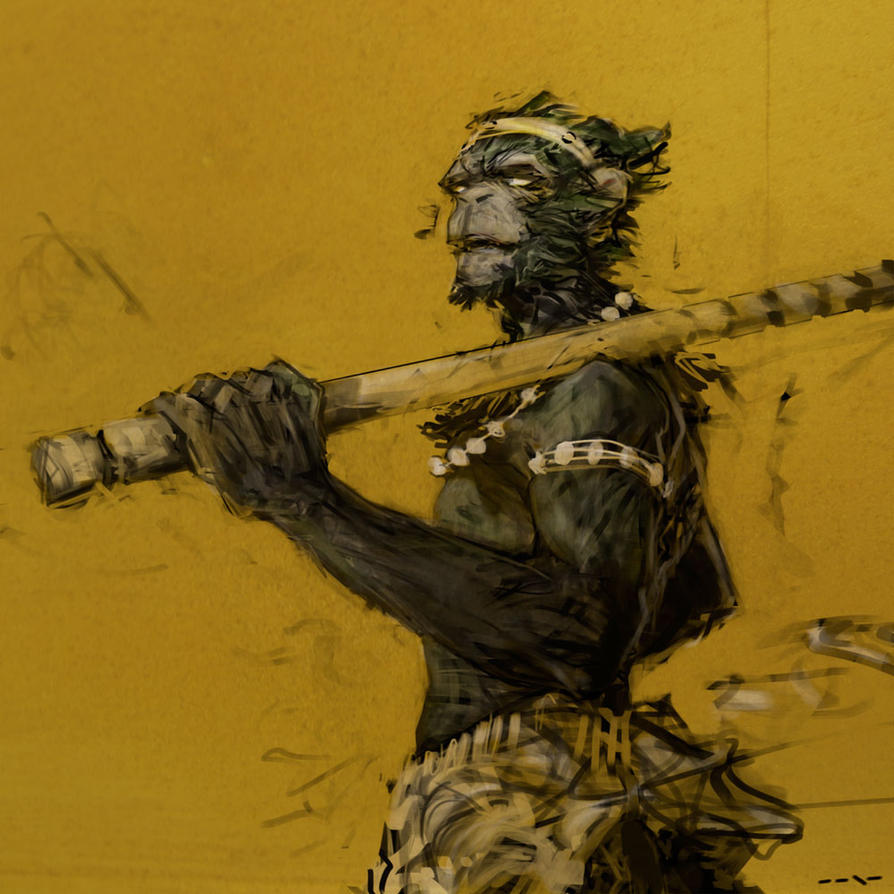 This is a picture of Universal Sun Wukong Drawing